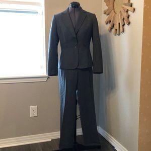 Tahari petite grey pantsuit- blazer and pant